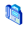 fax isometric icon vector image vector image