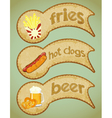 food labels retro vector image vector image