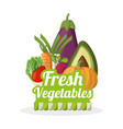 fresh vegetables nutrition food image vector image
