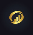 gold business finance circle logo vector image vector image