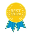 Gold Label Best Seller vector image vector image