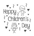 hand draw childrens day collection stock vector image vector image