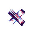 hand drawn paint brush cross vector image vector image