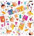 Happy Birthday kids pattern vector image vector image