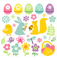 happy retro easter spring clip arts vector image vector image