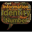 How Identity Thieves Steal Your Identity text vector image vector image