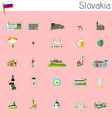 icons of slovakia vector image vector image