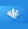 isometric white city template vector image vector image