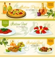 Italian cuisine banners for restaurant design vector image vector image