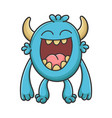 laughing cartoon furry creature monster vector image vector image