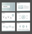 Light blue presentation templates Infographic set vector image vector image