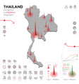 map thailand epidemic and quarantine emergency vector image vector image