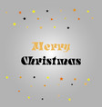 merry christmas gift poster gold glittering vector image