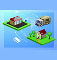 mobile shopping e-commerce vector image vector image