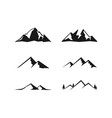 mountain set vector image vector image