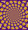 optical background of five pointed stars vector image vector image