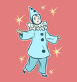 pierrot stock character of pantomime and commedia vector image vector image