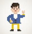 Pixel man2 vector image vector image