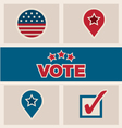 Political election design elements icons text set vector image vector image