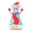 rat or mouse in a hat santa claus fabulous new vector image vector image