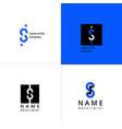 s logo letter monogram design template vector image vector image