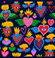 sacred heart cartoon icon background pattern vector image vector image