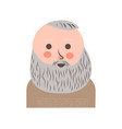 senior man with grey hair and beard portrait vector image