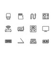 simple set symbols computer hardware and vector image vector image