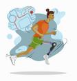 start runner disabled runner amputee leg vector image