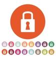 The lock icon Lock symbol Flat vector image vector image