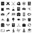 university icons set simple style vector image vector image