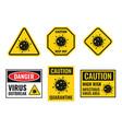 virus attention sign set coronavirus icons vector image