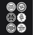 white and black vintage labels collection 4 vector image