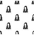 woman icon black single avatarpeaople icon from vector image