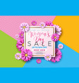 womens day sale background design with beautiful vector image