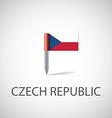 czech flag pin vector image