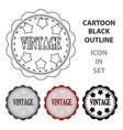 vintage icon in cartoon style isolated on white vector image