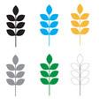 set wheat icon on white background flat style vector image