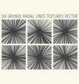 6 grunge radial lines textures vector image vector image
