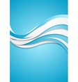 Abstract blue wavy corporate waves background vector image vector image