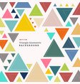 abstract colorful retro triangle pattern shapes vector image