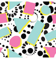 abstract spot seamless pattern geometric funky vector image vector image