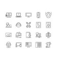 Applications line icons signs set