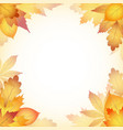 autumn design background with leaves falling from vector image vector image