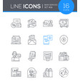 bank services - line design style icons set vector image