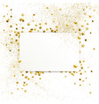 Banner with confetti of gold stars and sparkles vector image