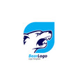 bear logo template with color blue and white vector image