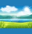 beautiful summer view vector image vector image