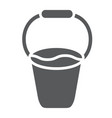 bucket glyph icon tool and farm container sign vector image vector image