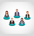 businesspeople teamwork community icons vector image vector image